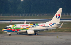 China Eastern Airlines Boeing 737-79P(WL) B-5265 in 2010 Shanghai Expo Livery (rickihuang) Tags: china plane airport shanghai expo aircraft aviation capital beijing special international civil  boeing   ces airlines mu eastern  airliner 737 2010 wl livery pek     zbaa             79p    b5265