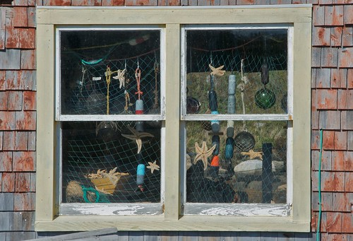 Sea-themed window