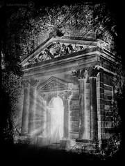 Hades Lobby (ShrubMonkey (Julian Heritage)) Tags: light bw castle garden temple mono god hell creative entrance eerie creepy doorway processing gateway horror portal underworld arundel hades