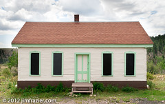 Sublette Bunk House (Jim Frazier) Tags: old railroad houses windows roof red sky house newmexico green art heritage history architecture buildings log cabin doors pov steps scenic structures landmarks august trains symmetry architec