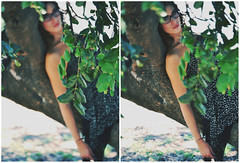 Daydreaming on a tree (SerenaAndHerSoul) Tags: portrait tree love girl beautiful beauty donna makeup dreaming dreamy albero ritratto daydream amore sogno sognatrice