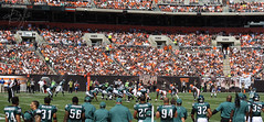 When The Eagles Have The Ball (G.Doyle) Tags: ohio cleveland nfl front row september clevelandbrowns philadelphiaeagles seasonopener 50yardline