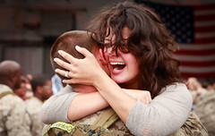 Joyous Reunion (United States Marine Corps Official Page) Tags: usmc america us nc unitedstates aviation military marines marinecorps havelock airfield unitedstatesmarinecorps easternnorthcarolina publicaffairs mcascherrypoint 2ndmaw 2ndmarineaircraftwing marinecorpsairstationcherrypoint lancecplstephentstewart