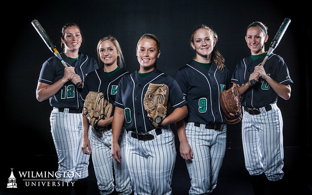 From left: Jillian Stafford, Shelby Thompson, Brooke Berger, Katie Warrington, and Christin Headley look to lead the Wildcats back to the CACC Tournament in 2013. Copyright 2012; Wilmington University. Photo credit: Paul Patton