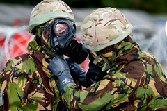 121003-A-3994P-009 (HQ Allied Rapid Reaction Corps) Tags: uk training soldier army cornwall rehearsal management situation nato nrf respirator publicaffairs rafstmawgan jointtraining cbrn chemicalsuit arrc promask natoresponseforce alliedrapidreactioncorps s10respirator exercisenobleledger arrcsptbn