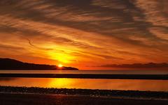 Dollymount Sunrise (paulydub) Tags: ocean ireland sea sky dublin seascape beach water clouds sunrise canon lens landscape sand flare 5d dollymount