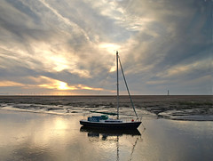 Evening on the Alt (Mr Grimesdale) Tags: sunset seascape boat merseyside sefton rivermersey highton seasunset stevewallace riverestuary riveralt mrgrimesdale