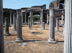 """Maritime Theater,"" Hadrian's Villa, axial view of atrium"