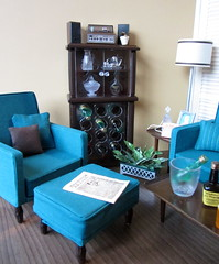 Mod Living Room -- Gloria Wine Rack After (Foxy Belle) Tags: plant ice coffee lamp modern paper table foot living newspaper bucket chair mod wine cabinet handmade ooak room scene gloria sofa liquor alcohol rack foam contact 1960s ottoman stool mattel core setter sindy repaint playscale