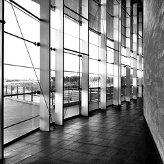 Stazione Tiburtina (SS) Tags: camera city light bw italy white black roma building window wall composition contrast square day mood view angle pov walk interior 4 perspective scenic vista framing stazione bianco nero ambience 2012 iphone tiburtina