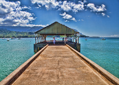 The Hanalei Pier - Kauai, Hawaii (Mark Chandler Photography) Tags: ocean sea nature water canon island photography hawaii islands pier photo pacific 7d kauai hanaleipier hanalei markchandler