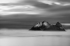 seal rocks sunset (hbphototeach) Tags: approved seal rocks ocean beach san francisco bayarea sunset california longexposure seascape seastacks blackandwhite