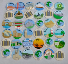 Travel cupcake toppers for a bridal shower (jennywenny) Tags: travel cupcake toppers bridal shower