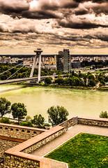 Bratislava. (silviu_z) Tags: silviu zlot outdoor cityscape city bratislava clouds danube river fuji xt1 travel storm nature europe