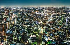 Sea of lights, Tokyo (Arutemu) Tags: asia asian city cityscape canon ciudad citylights eos50d japan japanese japon japonais japonesa japones japonaise tokyo night nighttime nightscape nightshot nightview nightfall lights view ville vista ikebukuro streets