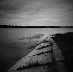 The End (Andrew.King) Tags: monochrome blackandwhite sky clouds concrete path water long exposure nikon d7100 tripod nd cokin filters weeds leading lines almostsquare composition contrast vignette sailors blurred horizon