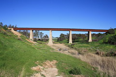 Rail bridge over the Gilbert (Runabout63) Tags: railway bridge gilbert river hamleybridge
