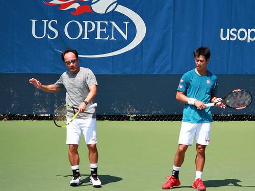 Michael Chang - Kei Nishikori and Michael Chang