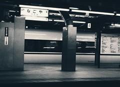 : Scenes at Nagoya Station (Jon-F, themachine) Tags: jonfu 2016 olympus omd em5markii em5ii  mirrorless mirrorlesscamera microfourthirds micro43 m43 mft ft     snapseed japan  nihon nippon   japn  japo xapn asia  asian fareast orient oriental aichi   chubu chuubu   nagoya  train trains   platform  station stations trainstation  inside indoors  meieki nagoyastation