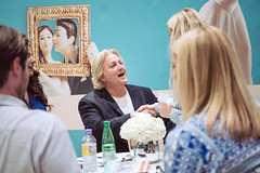 David Emanuel with Say Yes to the Dress. Credit: Louise Bjorling