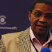 Chair of the Commonwealth Observer Group to Zambia HE Dr Jakaya Kikwete former President of the United Republic of Tanzania delivering the Commonwealth Interim Statement at a press conference in Lusaka, Zambia