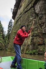 160524_154017_CB_0301 (aud.watson) Tags: europe czechrepublic bohemia decindistrict hrenska riverkamenice kamenicegorge edmundgorge gorge ravine river water rocks rockformation cliffs ferryman