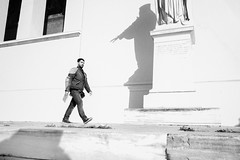 1 (ValantK.) Tags: street sleepwalking man bw