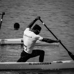 Row, row, row your boat (MastaBaba) Tags: 20160821 brazil brasil rio riodejaneiro olympics olympicgames summerolympics sports standupcanoe canoe man muscles strong fit paddle water bay
