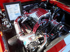 1987 Ford Mustang GT (splattergraphics) Tags: 1987 ford mustang mustanggt engine custom blown carshow mustangmania appleford columbiamd