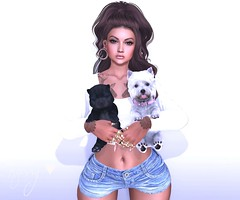 Me and my Dogs (RoxxyPink) Tags: roxxypink roxxy pink fashionuschies fashion uschies style styling mode dogs dog westie blueberry meshhead head meshhair hair meshnails nails meshbody body maitreya slink tattooed tattoo inked ink event kustom9 kustom 9 n21 n 21 fair virtualworld world virtual avatar ava avi 2ndlife second life secondlife game 3dgame 3d sl fashionblog blo slblog fashionblogger blogging blogger clawtooth white~widow addams black bantam