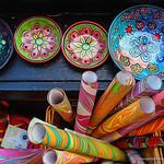 Colour swirls hand painted bowls thumbnail
