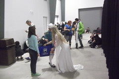 Fionna from Adventure Time and a Princess (splinky9000) Tags: ottawa comic con 2013 canada ernst young centre cosplay guests fionna adventure time princess
