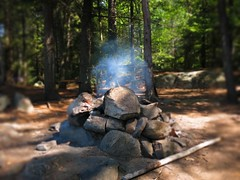 the fire pit! (Gillian Walker) Tags: crotch lake ontario canoeing camping summer labour day 2016