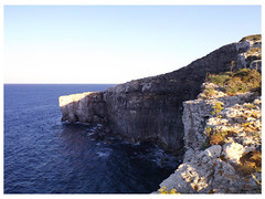 Cliffs in the North of Comino (Notquiteahuman1) Tags: cliffs rock stone sea mediterean coast rocky height steep waves comino malta