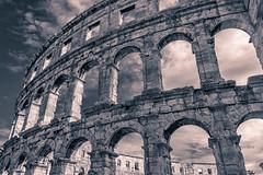 Arena in Pula (bodro) Tags: blackwhite croatia pula rome adriatic arena coast coliseum dramaticsky ruins