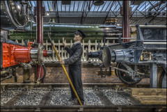 Swindon Steam Museum 9 (Darwinsgift) Tags: swindon steam museum great western railway nikkor 20mm f18 g hdr photomatix worker waxwork waxworks