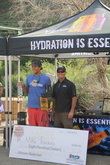 "Due to his success through 3 SUP races and 1 Kayak race, Mike Tavares also took home ""Ultimate Waterman"" overall prize"
