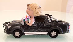 Toyota Hilux Wedding Cake Topper - Side (Rouvelee's Creations) Tags: polymerclay weddingcaketopper figuremodelling brideandgroomcaketopper rouvelee customisedbrideandgroom