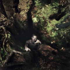 Surviving the Abyss (Rob Woodcox) Tags: wood mystery danger forest dark moss scary eerie pit abyss robwoodcox robwoodcoxphotography joelrobison