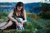 about the fact that dogs are the better humans (laura zalenga) Tags: woman dog mountain holiday tree green love nature girl grass puppy bush soft hand dress touch croatia ©laurazalenga