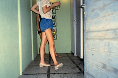(Glupa Krava) Tags: street urban woman sexy girl beauty legs pavement toilet wc waterclosed