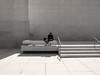 Després de la visita cultural (Pintanescu) Tags: barcelona people urban blackandwhite museum architecture minimalism caixaforum