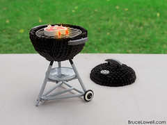 LEGO Weber Barbecue Grill (bruceywan) Tags: summer food lego beverage bbq grill steak barbecue weber photostream moc lowellsphere brucelowellcom