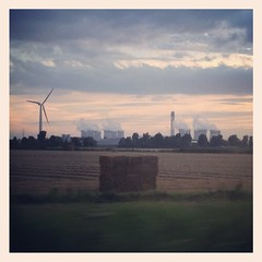 Renewable Vs Nuclear (Laura donothey) Tags: nuclear windturbine instagramapp