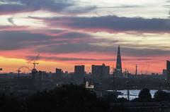 City Sunset (wizbowes) Tags: sunset thames dusk greenwich londoneye cuttysark bttower shard hmsocean greenwichparksunset