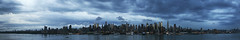 NYC Panorama. (stevenbley) Tags: nyc blue sky panorama newyork skyline westnewyork