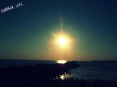 Summer Life (Zuzka.M) Tags: light sunset summer sun beach croatia hrvatska zaton summerlife