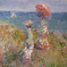 Monet, Cliff Walk at Pourville, with detail of women