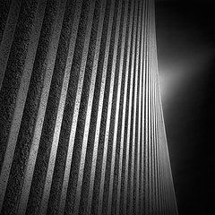 a path to the sky VI - steps (Julia-Anna Gospodarou) Tags: city longexposure red sky urban blackandwhite bw abstract building berlin monochrome lines architecture clouds germany square daylight nikon shadows tripod steps perspective le repetition photowalk series streaks pillars tamron sureal highlight 2012 manfrotto modernbuilding hoya mexicanembassy blacksky nd400 fanshape manfrotto055xprob whiteshapes bw106 nikond7000 googlegoogleplus juliaannagospodarou europhotowalk siruik20x tamronaf18270mm3563pzd apathtothesky