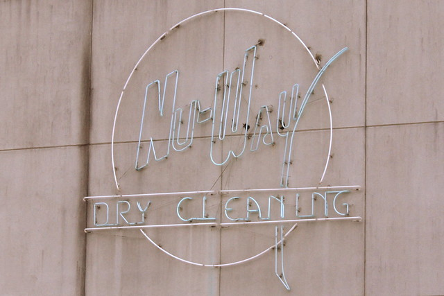 Nu-Way Dry Cleaning neon sign - Forest, MS